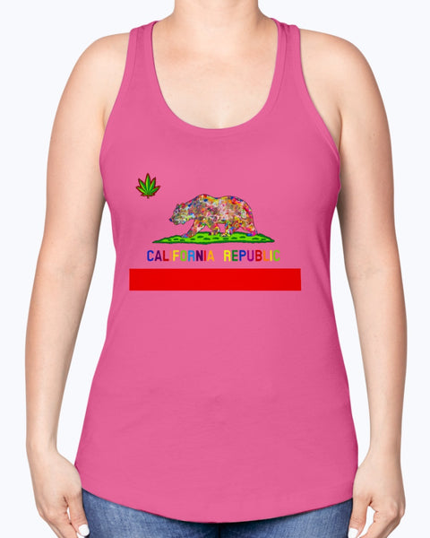 California Love Women's Racerback Tank