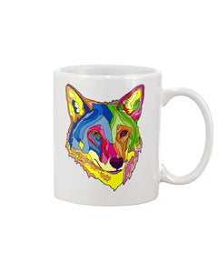American Red Wolf Large 15oz Ceramic Mug