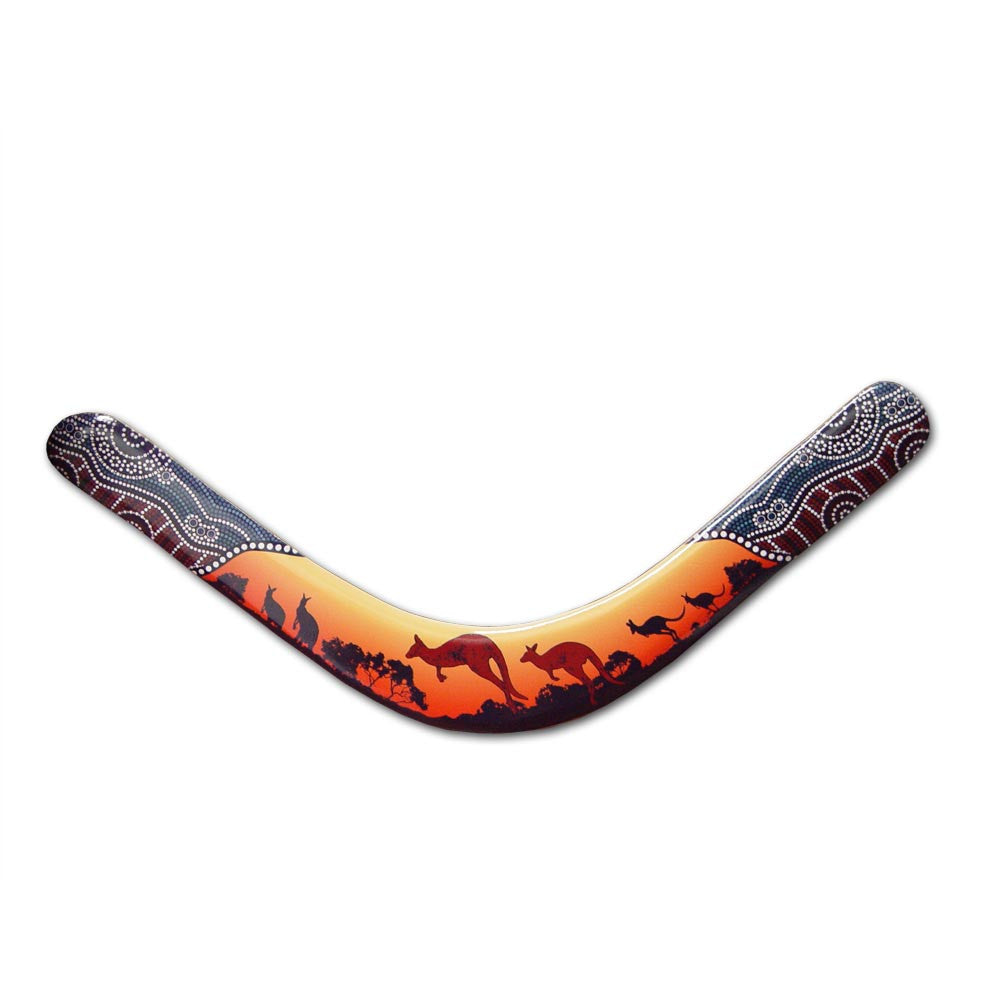 Kangaroo Pelican Boomerangs - Beautiful Art Boomerang! - boomerangs-com