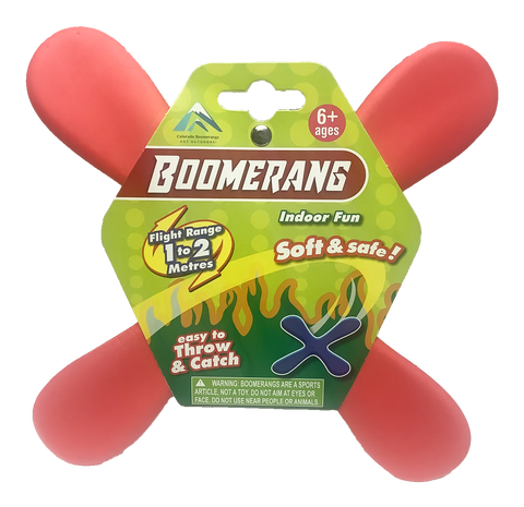 Indoor Boomerangs - Soft and short range for inside the house boomerang fun!
