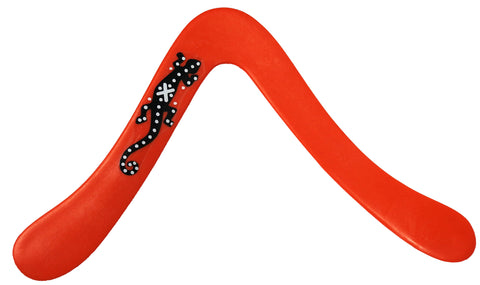 Salamander Lefty Red Boomerang for Left Handed Throwers! - boomerangs-com