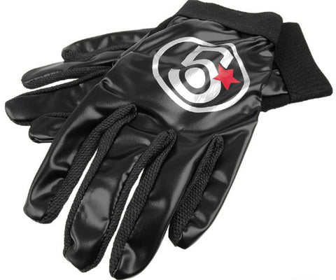 5 Bling Streamline track gloves - black