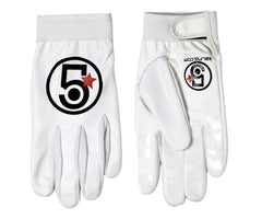 5 Bling Streamline track gloves - white - Retrogression