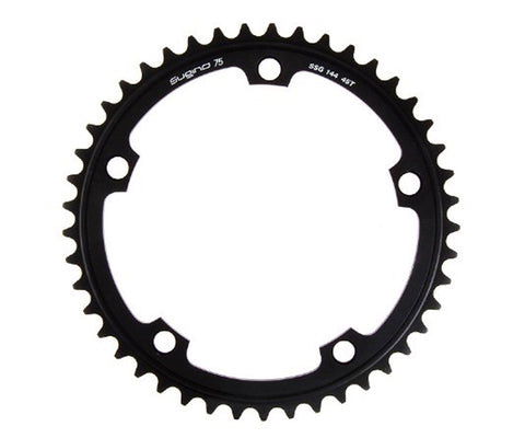 Sugino 75 chainring - black - Retrogression