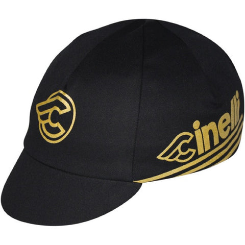 Cinelli Black & Gold cycling cap