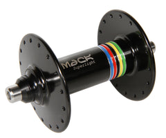Mack Superlight high flange front hub - black WCS - Retrogression