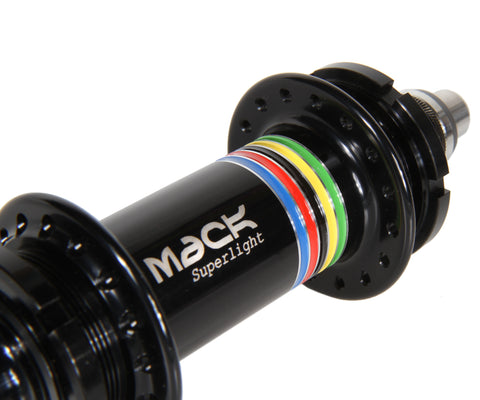 Mack Superlight low flange rear hub - black WCS