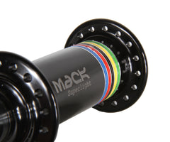 Mack Superlight low flange front hub - black WCS - Retrogression