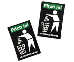 Pitch In! stickers - Retrogression