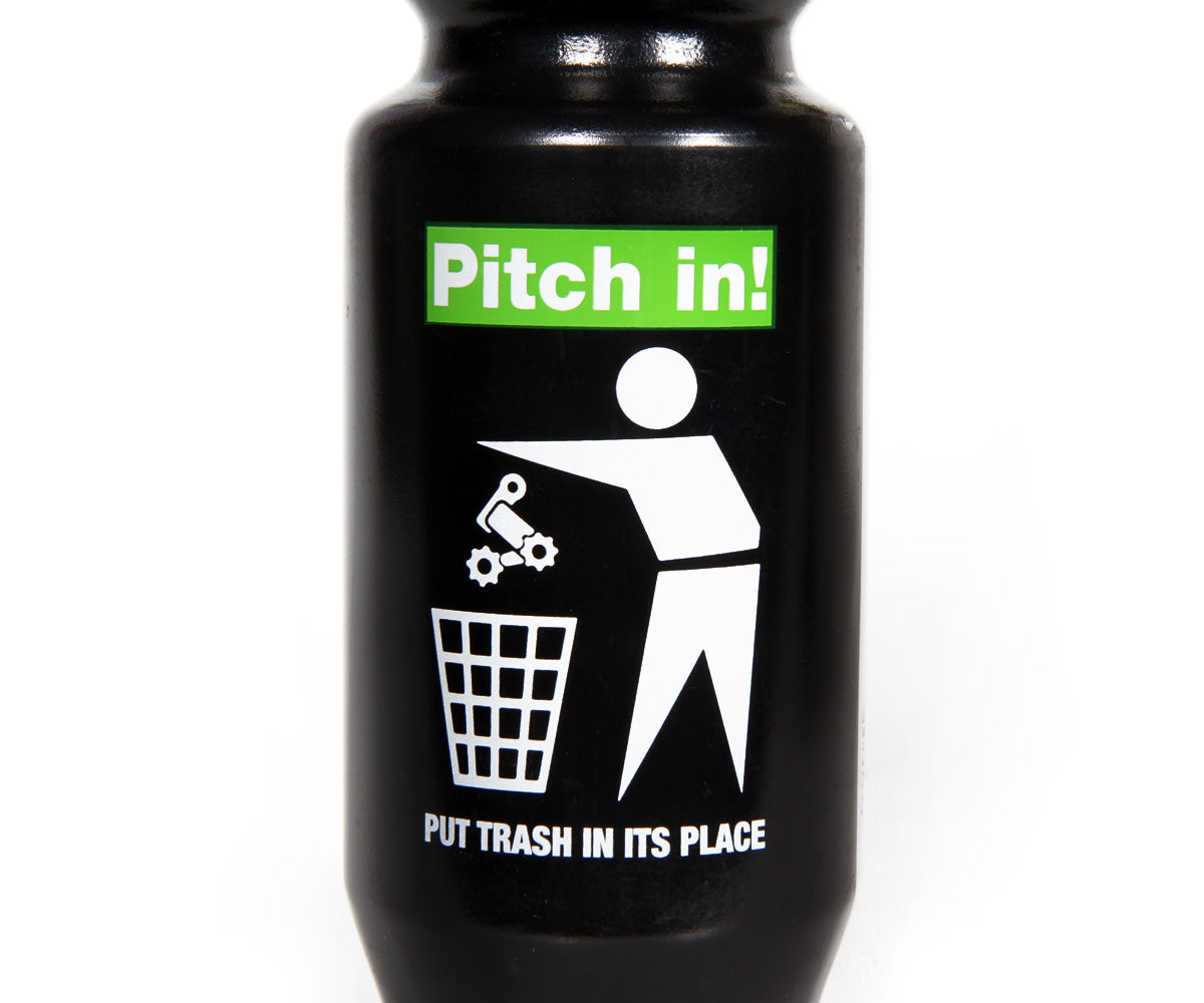 "Retrogression ""Pitch in!"" Purist water bottle"