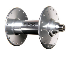 Mack Superlight high flange front hub - silver