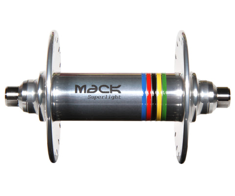 Mack Superlight high flange front hub - silver WCS