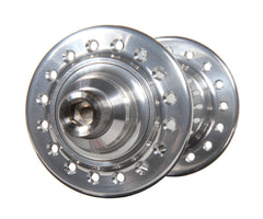 Mack Superlight low flange front hub - silver