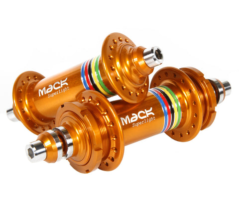 Mack Superlight low flange hub set - gold WCS