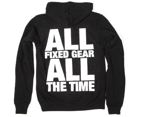 "Retrogression ""All Fixed Gear"" zip hoodie"