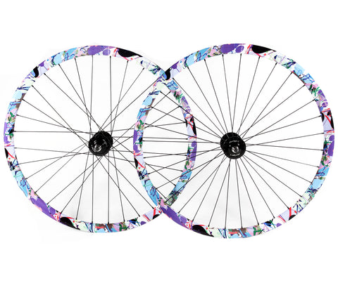 NOS Velocity Deep V/Gran Compe wheelset - splatter - Retrogression