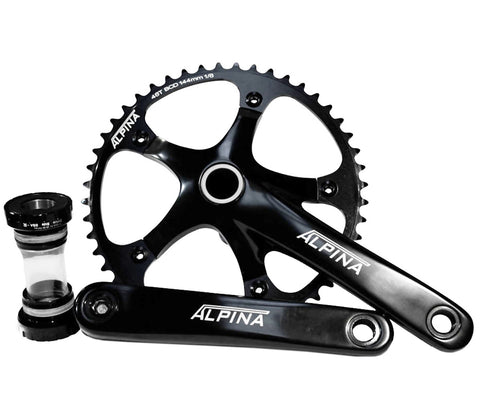 Alpina track crankset w/ bottom bracket