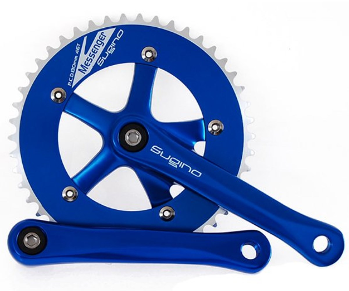 NOS Sugino RD Messenger crankset - anodized colors - Retrogression