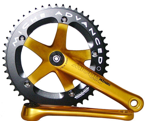 NOS Miche Primato Advanced track ISO crankset - various colors