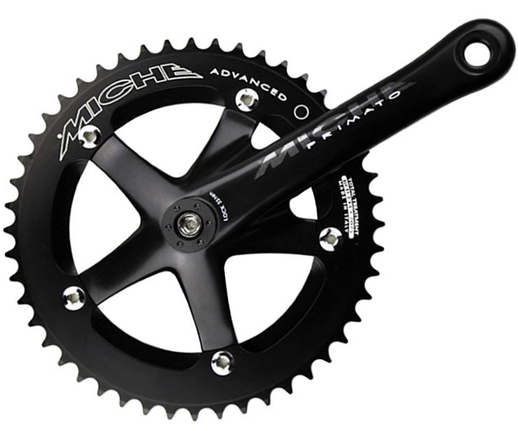 Miche Primato Advanced track JIS crankset - black - Retrogression