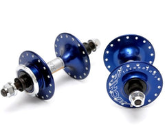 NOS Miche Primato Pista high flange hub set - anodized colors