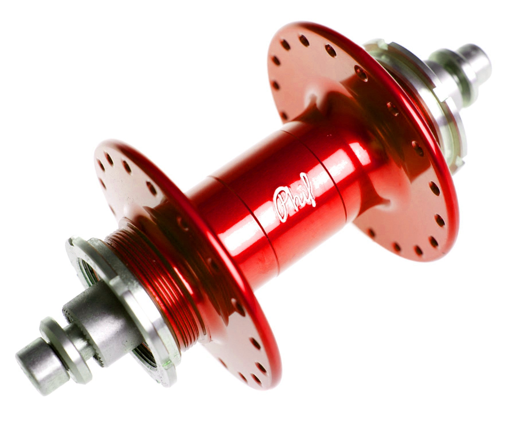 Phil Wood high flange rear track hub - anodized colors - Retrogression