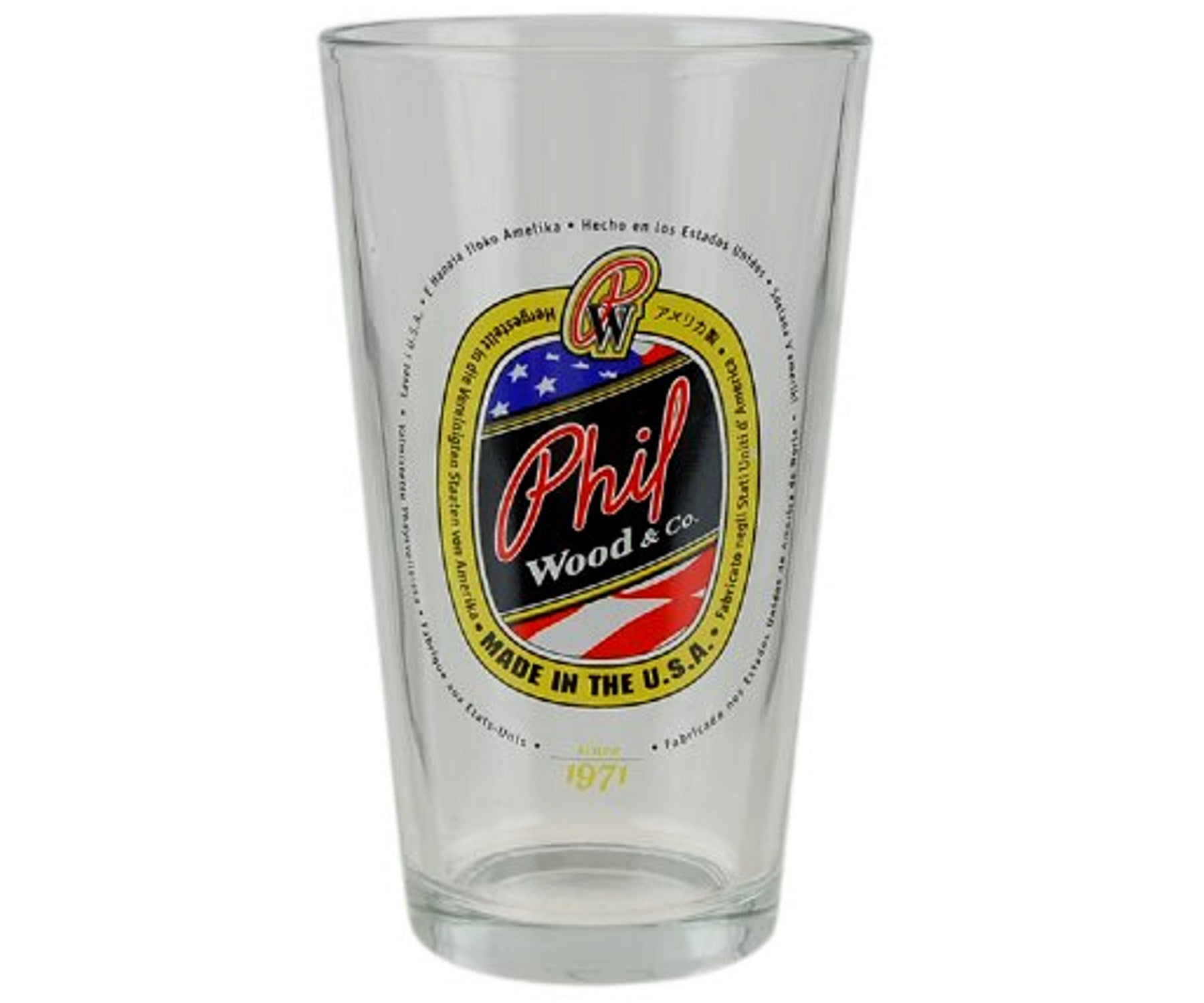 Phil Wood pint glass - Retrogression