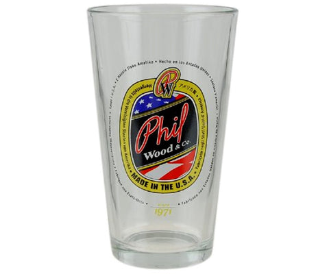 Phil Wood pint glass