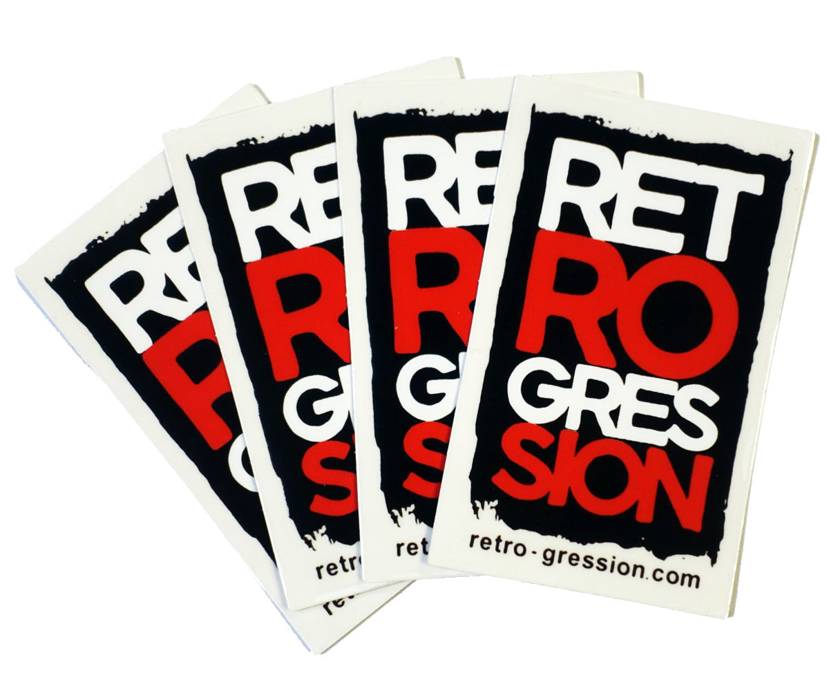 Retrogression logo stickers