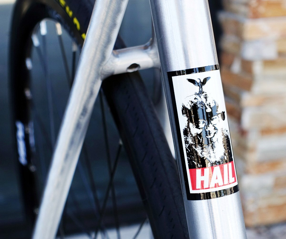 Hail Sheldon Brown stickers - Retrogression
