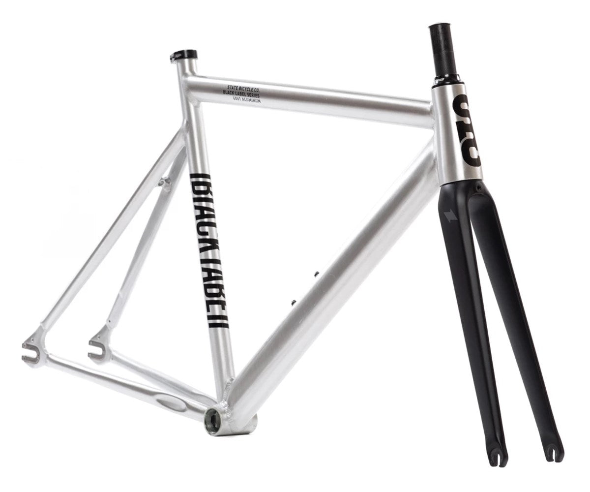 State Bicycle Co. 6061 Black Label V2 frameset - Raw - Retrogression
