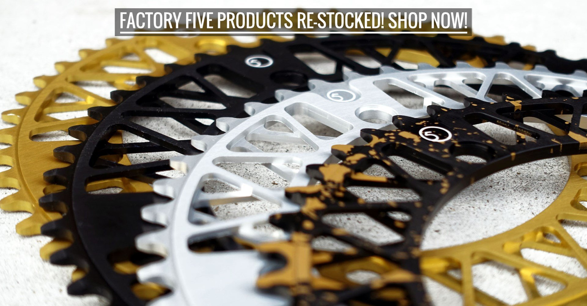 Shop Factory Five products now!