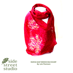 pure silk scarf hand made