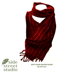 soft and warm hand woven scarf
