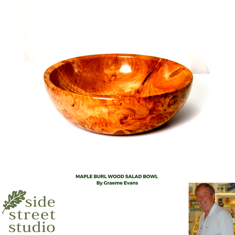 maple burl salad bowl