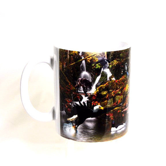 COASTAL RAINFOREST WILDLIFE PRINTED MUG - Side Street Studio  - 1