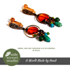 AMBER, JADE AND TURQUOISE CLIP ON EARRINGS