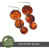 TRIPLE COPPER DROPLET EARRINGS - Side Street Studio - 2