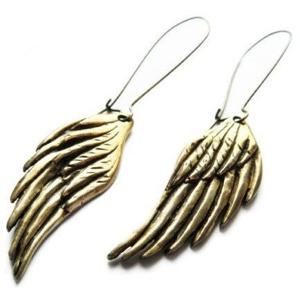BRONZE WINGS EARRINGS - Side Street Studio