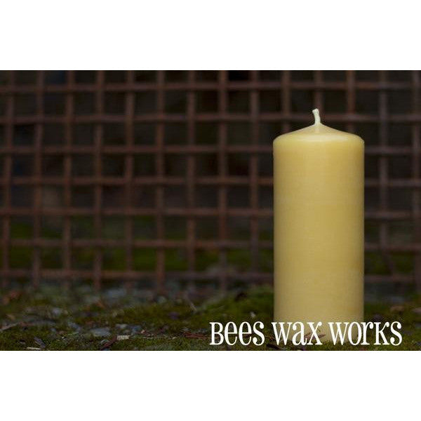 PURE BEESWAX 5 INCH PILLAR CANDLE - Side Street Studio