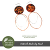 COPPER DANGLE EARRINGS - Side Street Studio - 2