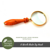 MAGNIFYING GLASS PACIFIC YEW WOOD - Side Street Studio - 2