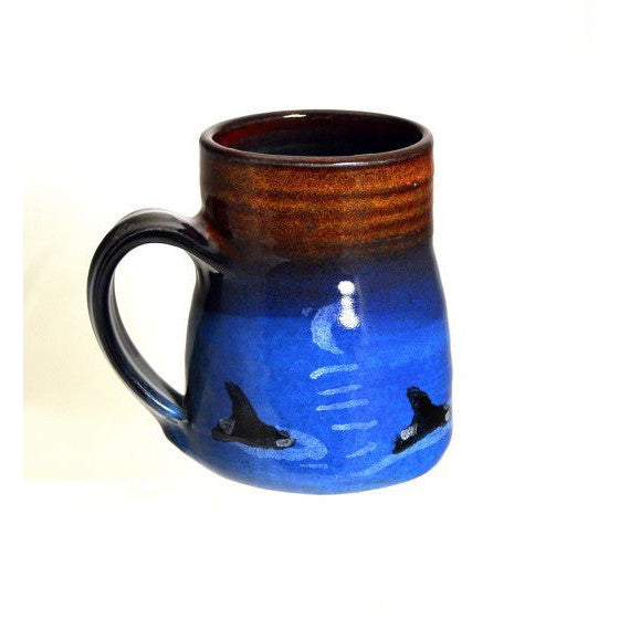 SMALL WIDE BASED ORCA MUG - Side Street Studio
