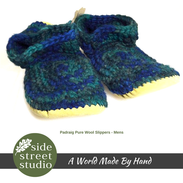 MEN'S PADRAIG SLIPPERS - MEDIUM - Side Street Studio - 1