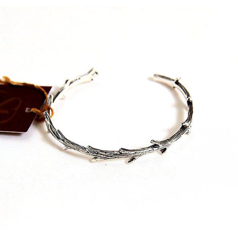 STERLING SILVER TWIG CUFF - Side Street Studio