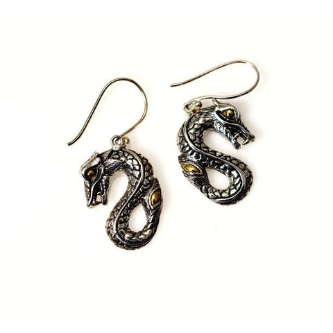 STERLING SILVER DRAGON EARRINGS - Side Street Studio