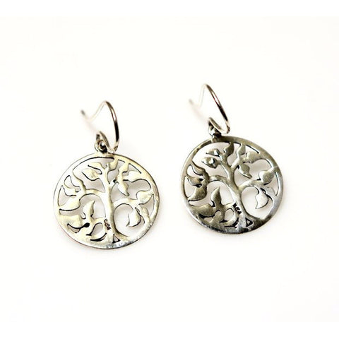 STERLING SILVER ABSTRACT TREE OF  LIFE  EARRINGS - Side Street Studio