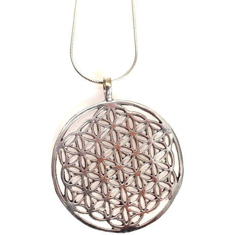 STERLING SILVER FLOWER OF LIFE PENDANT - Side Street Studio