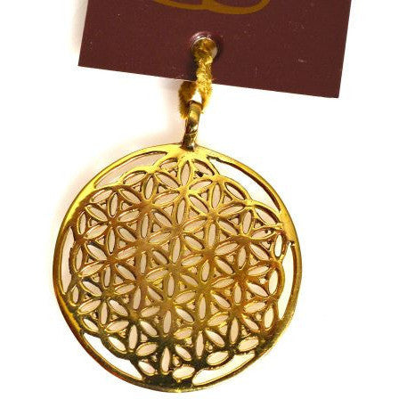 BRONZE FLOWER OF LIFE PENDANT - Side Street Studio