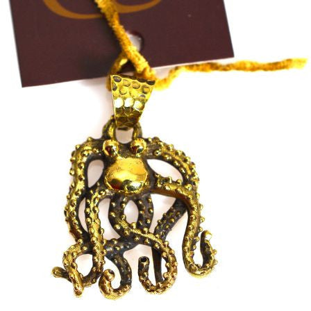 BRONZE OCTOPUS PENDANT - Side Street Studio